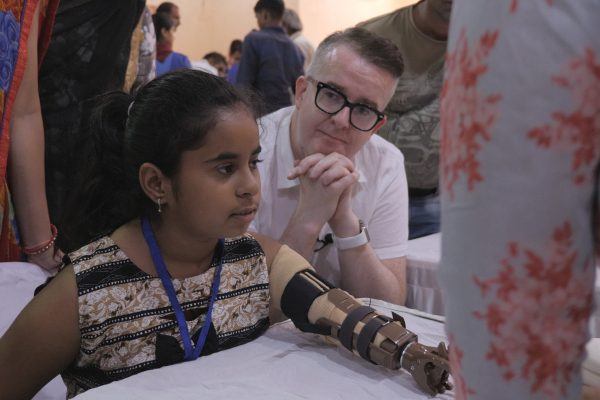 David travels to India to work on Helping Hands project