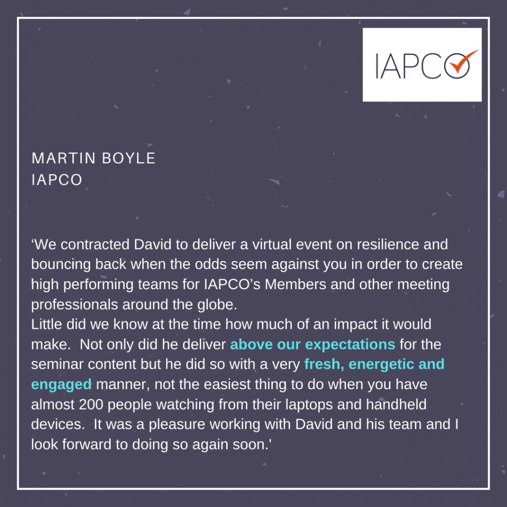 IAPCO Martin Boyle